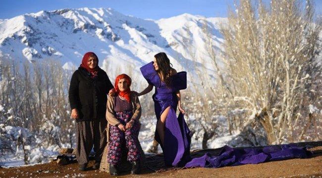 Terörden temizlenen dağlarda moda çekimleri yapılıyor