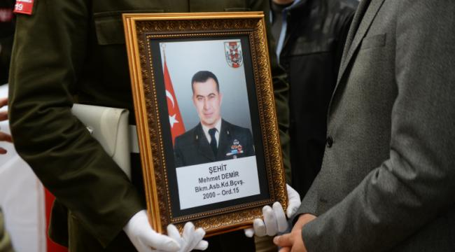 Düşen Helikopter'de Şehit Olan Astsubay Mehmet Demir Son Yolculuğuna Uğurlandı