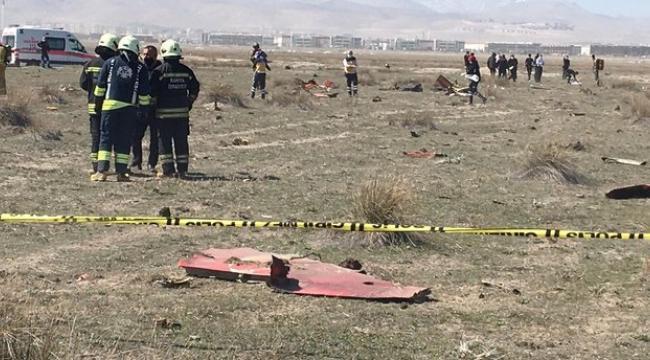 Konya'da eğitim uçağı düştü, yüzbaşı pilot şehit oldu!