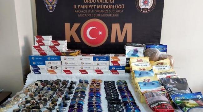 Ordu'da kaçak tütün operasyonu: 2 gözaltı