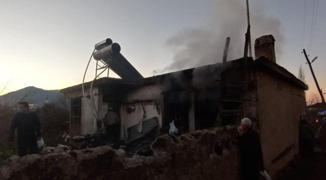 Aydın'da müstakil evde yangın çıktı