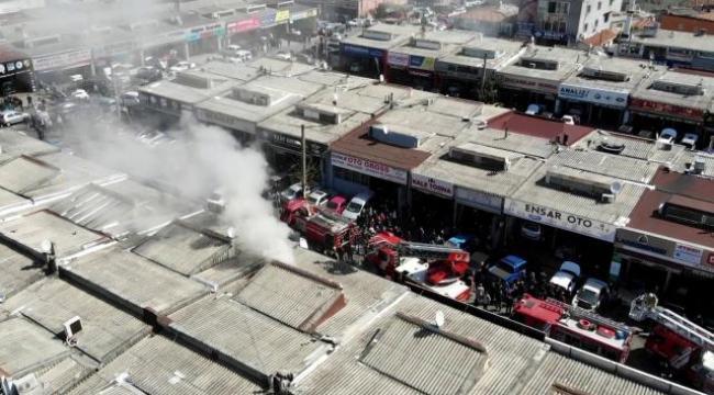 Gebze'deki sanayi sitesinde korkutan yangın