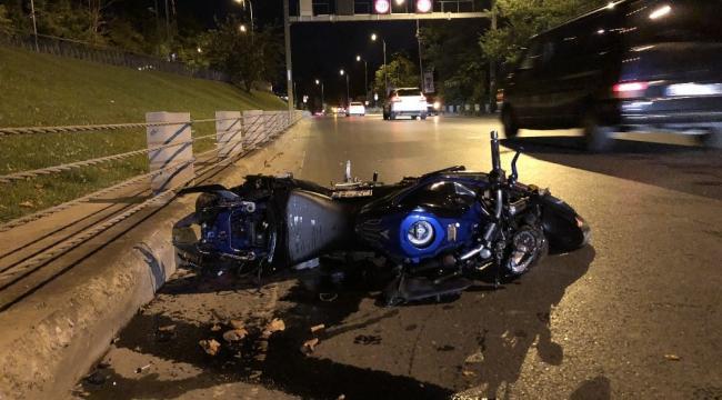 Sarıyer'de motosikletlilerin korkunç kazası
