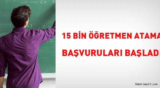 15 Bin sözleşmeli öğretmen alımı için ön başvurular başladı