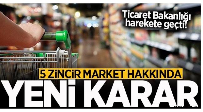 5 zincir marketin fahiş fiyat kontrolleri için müfettişler görevlendirildi!