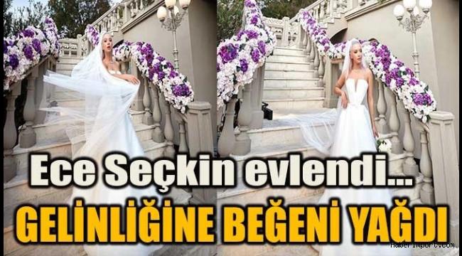 Ece Seçkin'in en mutlu gününde giydiği iddialı gelinlikleri sosyal medyada olay oldu!