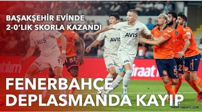 Fenerbahçe, Başakşehir deplasmanında 3 puan kaybetti