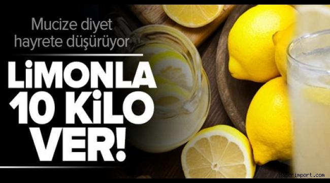 Haşlanmış limon diyetiyle ayda tam 10 kilo!