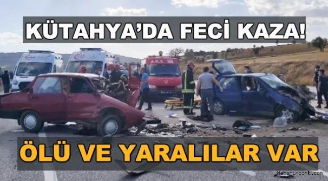 Kütahya'da trafik kazası! Çok sayıda yaralı ve ölü