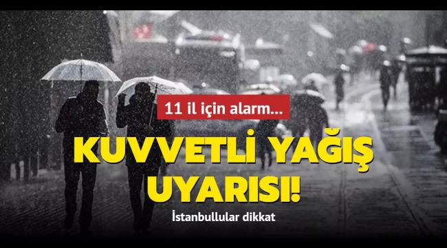 Meteoroloji'den Marmara, Karadeniz ve Ege'ye kuvvetli yağış uyarısı!