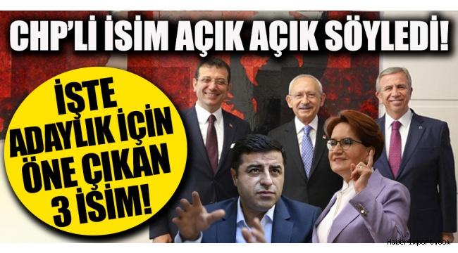 Millet İttifakı, Cumhurbaşkanlığı adaylığında 3 ismi konuşuyor!