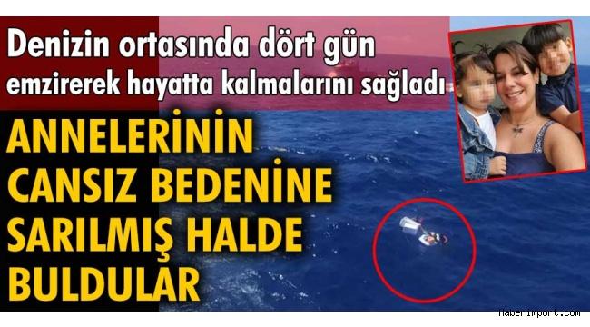Tekne kazası sonrası çocuklarını emzirerek hayatta tutan anne kurtulamadı!