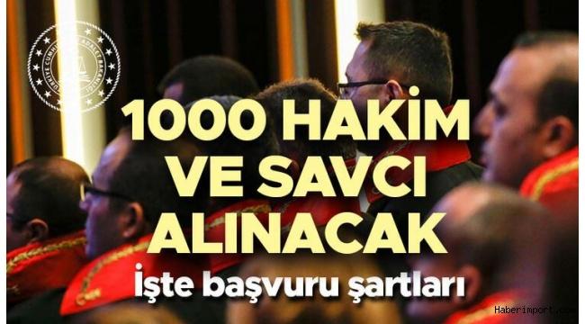 Adalet Bakanlığı 1000 hakim ve savcı alımı için başvuru tarihini açıkladı!