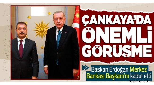 Çankaya Köşkü'nde kritik görüşme! Erdoğan ve Kavcıoğlu bir araya geldi..