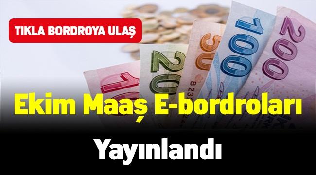Ekim ayı maaş e-bordroları yayımlandı