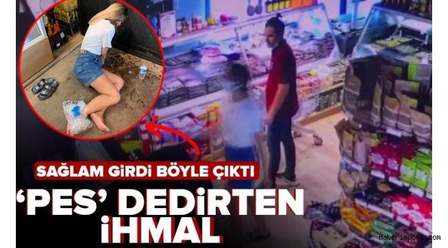 Muğla'da peynir aldığı market reyonunda asansör boşluğuna düştü!