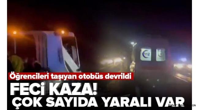 Nevşehir'de öğrencileri taşıyan iki otobüs peş peşe kazaya karıştı: 25 yaralı!