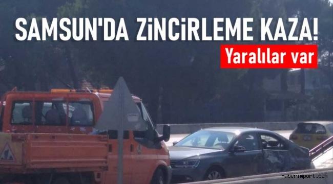 Samsun'da zincirleme kazada çok sayıda kişi yaralandı