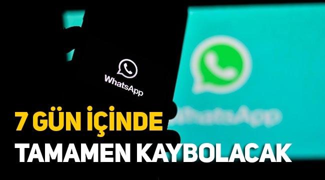 WhatsApp'a süre özelliği: 7 gün içinde mesajlar kayboluyor!